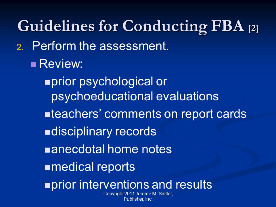 Guidelines for Conducting FBA [2]